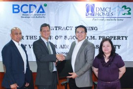 DMCI Homes, BCDA sign deed of sale for Villamor base lot