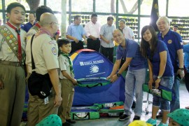 DMCI Homes provides Camping Tents to QC Boy Scouts