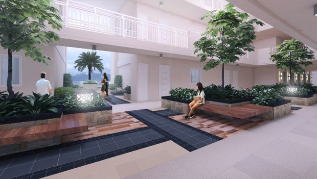 DMCI Homes' Infina towers garden atrium