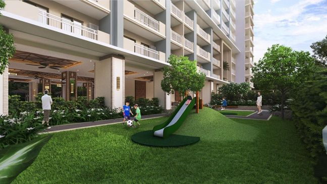 Artist's illustration of DMCI Homes' The Orabella play area.