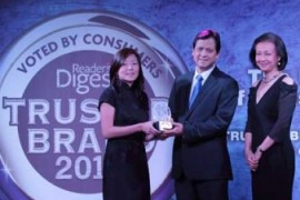 DMCI Homes is Reader's Digest Gold Trusted Brand Awardee