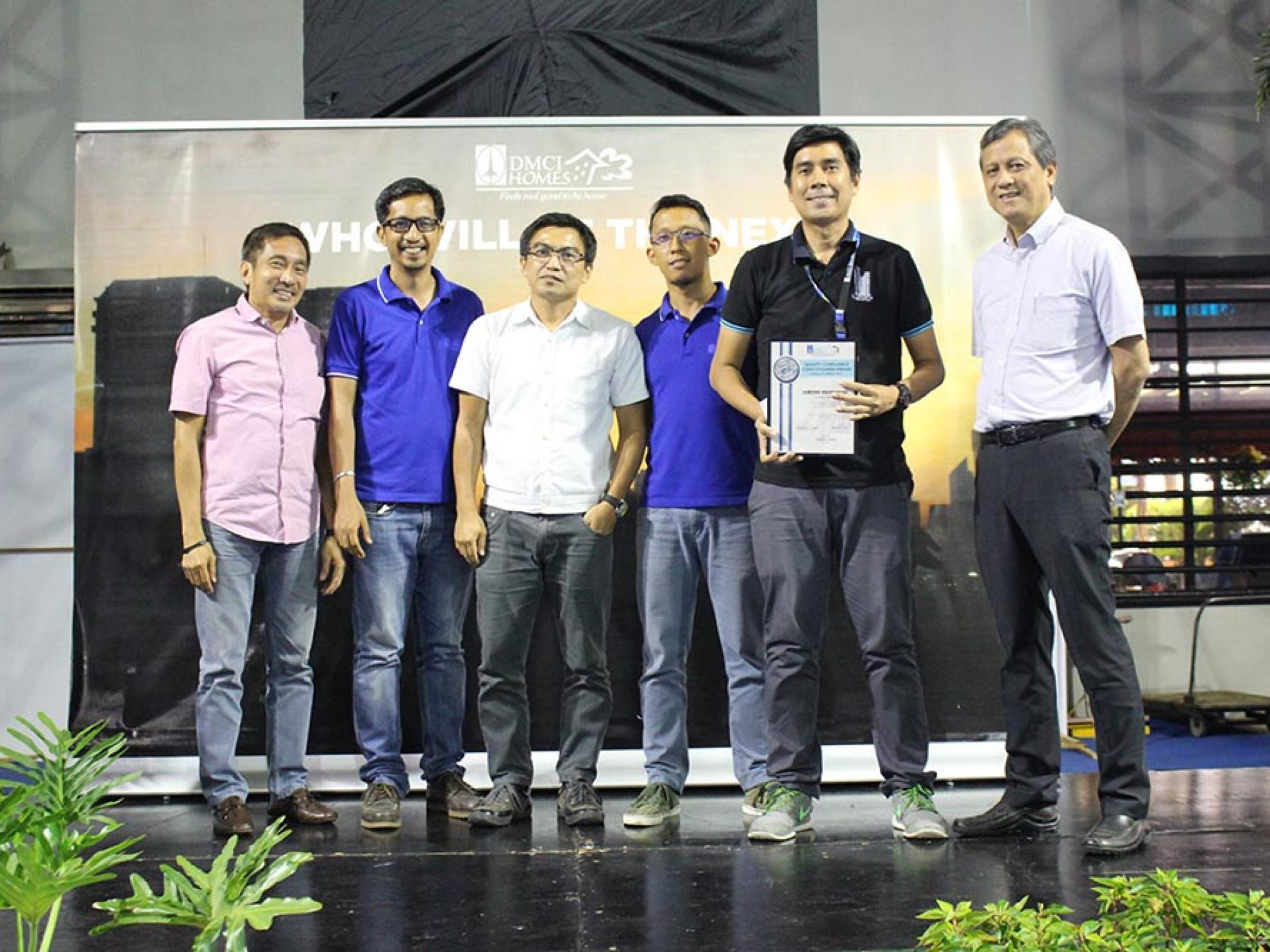 DMCI Homes Quality Council fetes second batch of Tumpak awardees